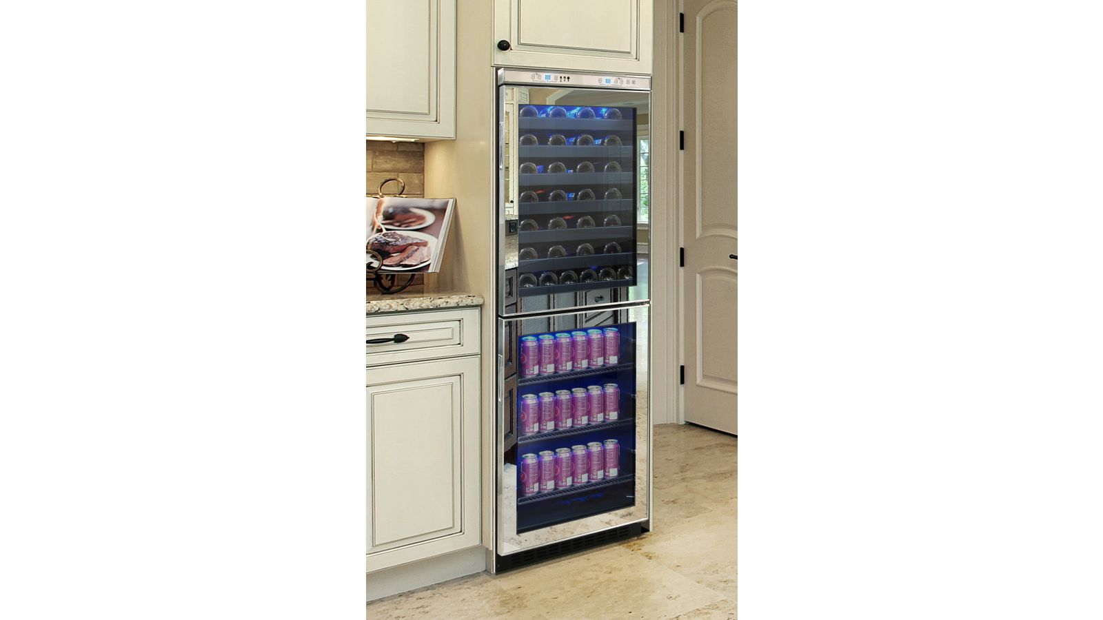 NEW: Vinotemp Mirrored Touch Screen Wine & Beverage Cooler