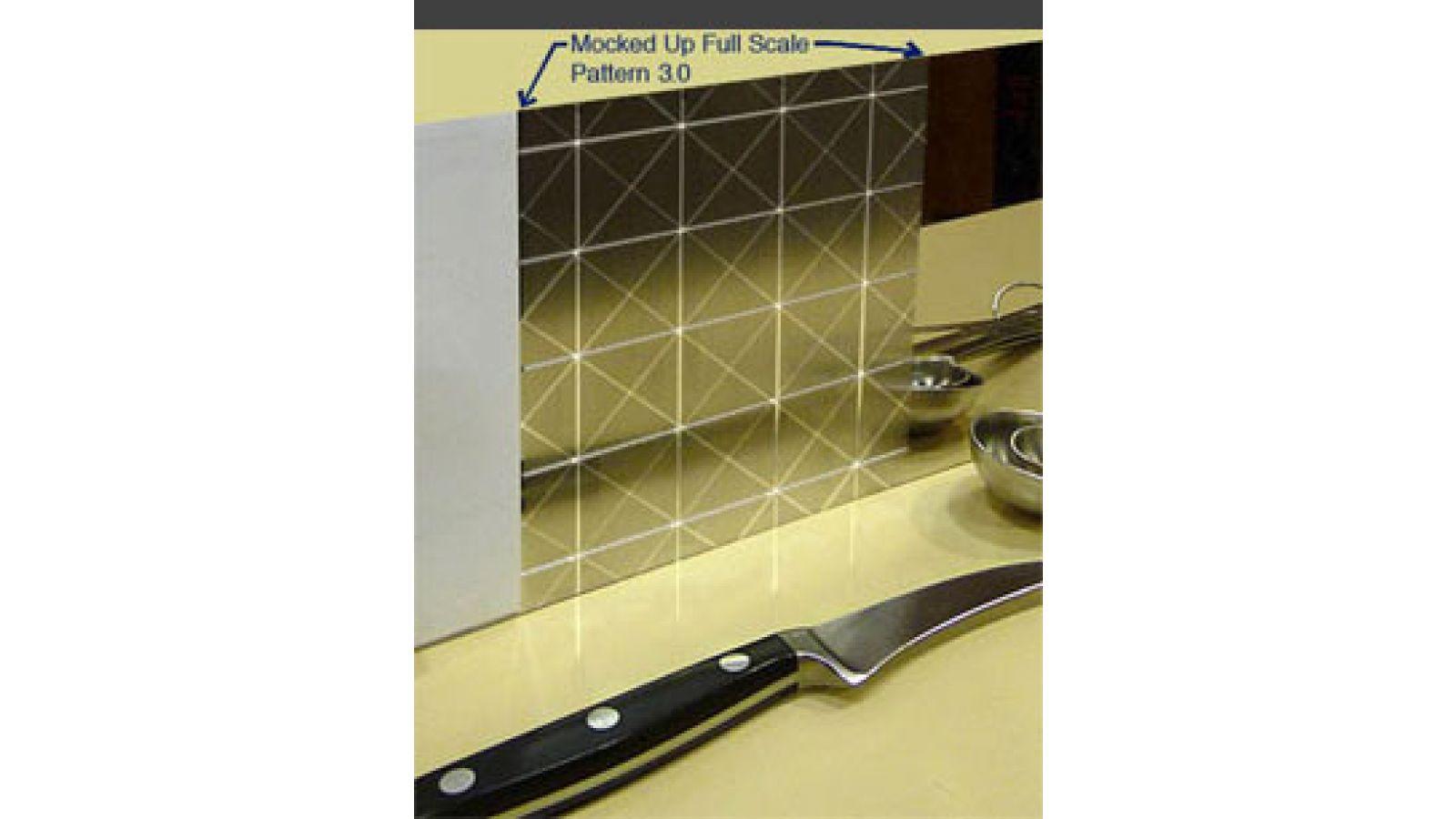 Custom Etched Stainless Steel Backsplashes