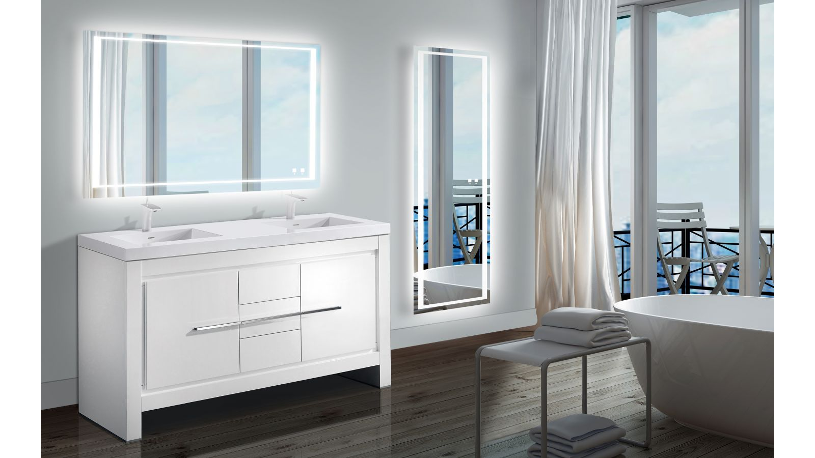The Sanctuary Illuminated Dressing Slique™ Mirror Collection