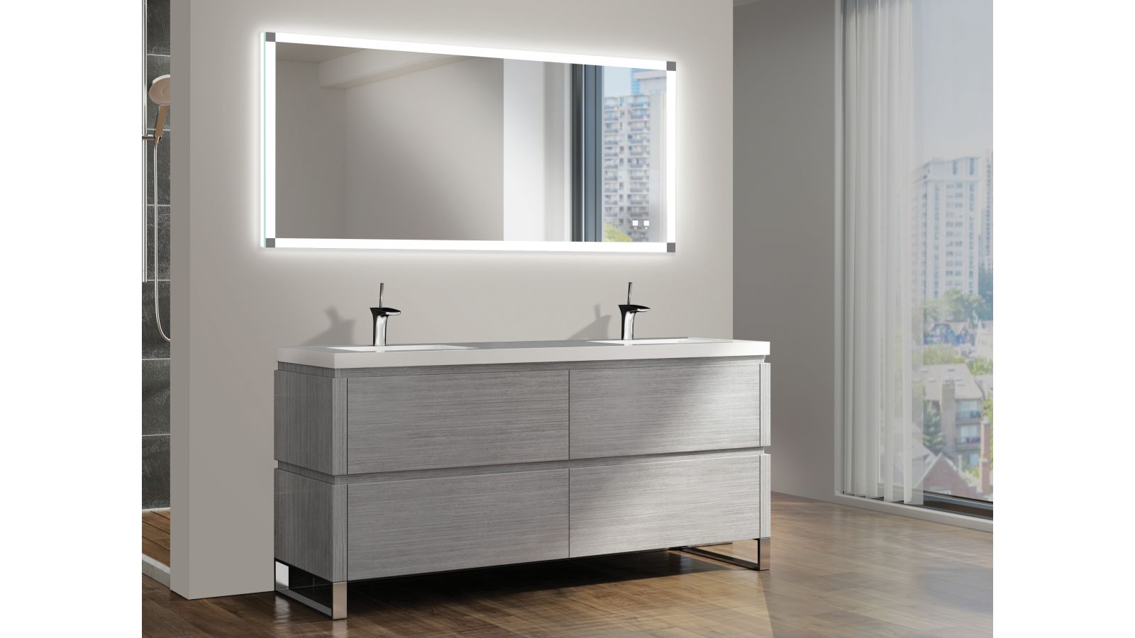 The Tranquility Illuminated Slique™ Mirror