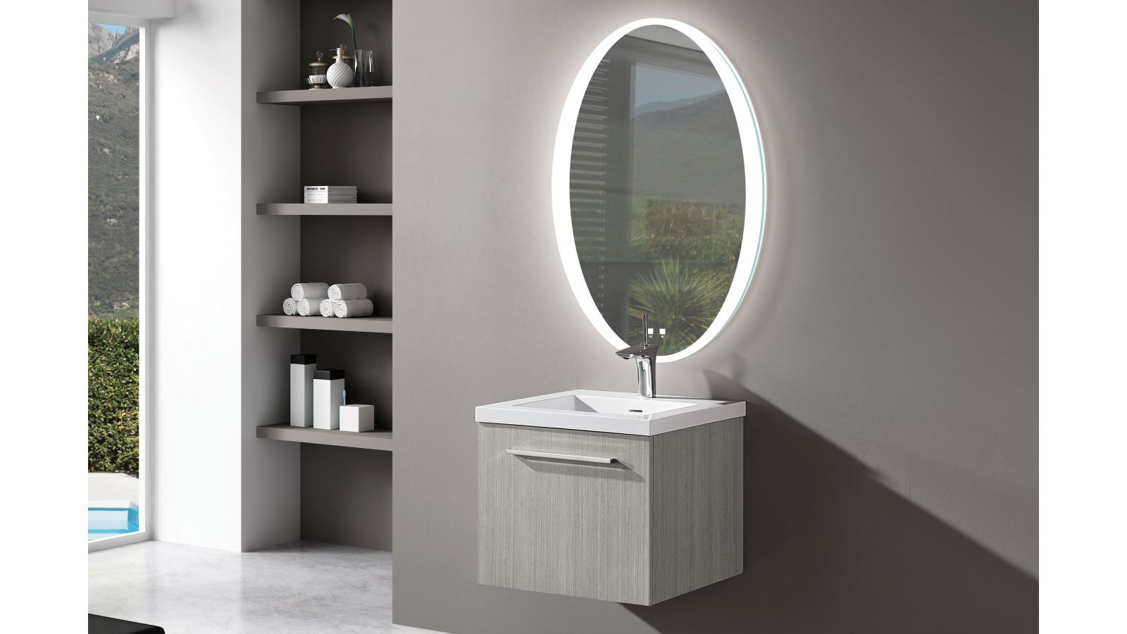The Twilight Illuminated Slique™ Mirror Collection