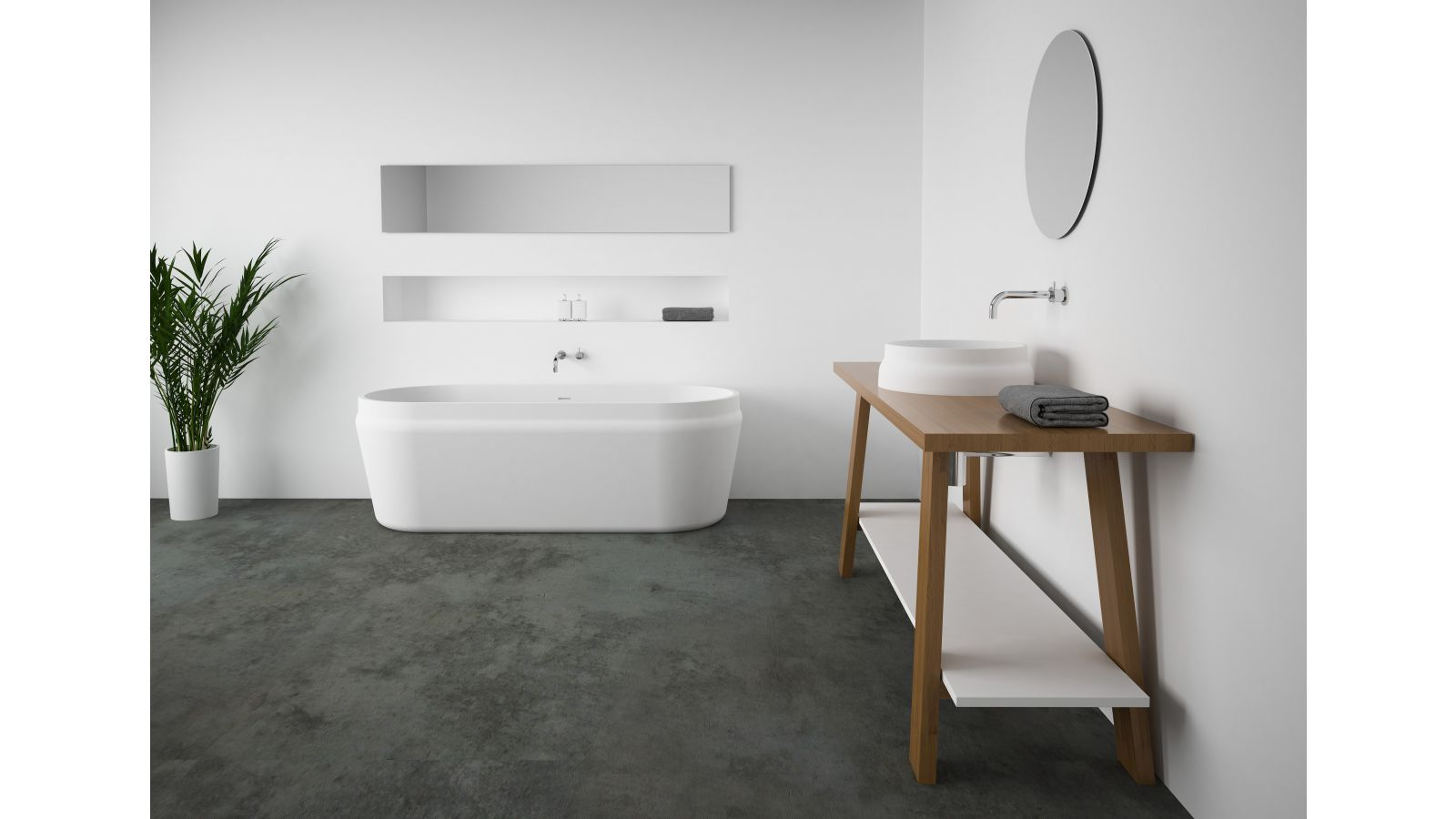 Latis oval bath