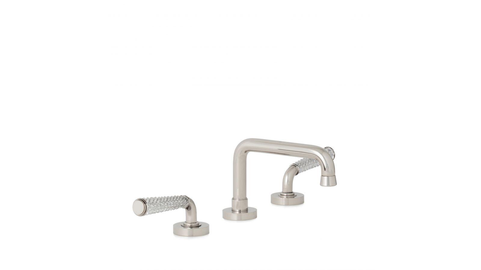 Dorian II Cut Crystal Lever Faucet Set