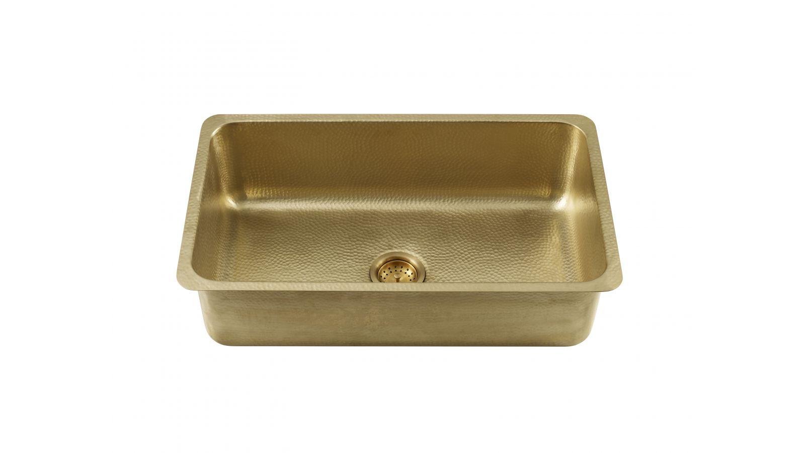 Thompson Traders Villa Hammered Brass Sink