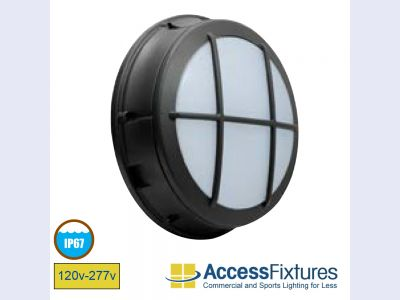 CIRC 20w Latticed LED Wall Pack 120-277v, 50w HID EQV L70@187K Hrs – EXTREME LIFE
