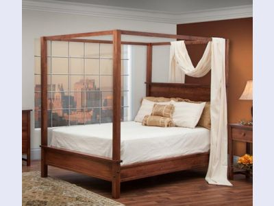 Amish Modern Shaker Canopy Bed
