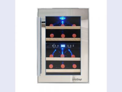 NEW: Vinotemp 12-Bottle Dual-Zone Thermoelectric Mirrored Wine Cooler