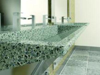 Verge Lavatory System in Evero Natural Quartz