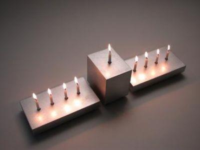 Shine 3-Menorah Hanukkah Festival of Lights Set