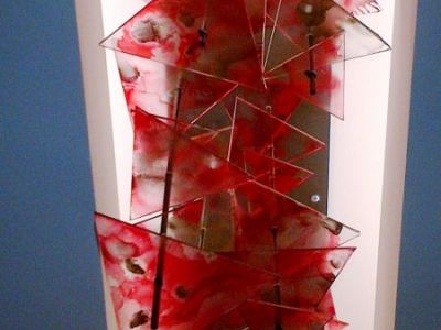 Acrylic hand dyed sculpture pieces