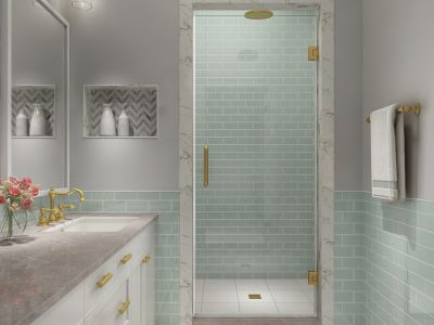Kinkade XL Completely Frameless Shower Door Collection
