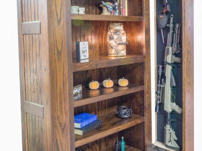 Book Shelf Hidden Gun Storage