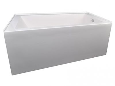 Citrine Solid Surface Alcove Bathtub