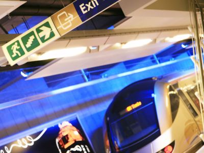 Way-finding signage for the Gautrain