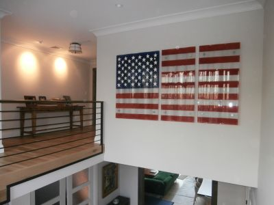 Fusion Glass American Flag