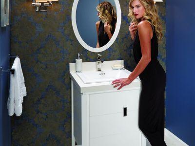 Zoe Vanity in Glossy White (E23)