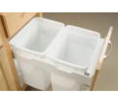 15'' Concealed-Slide Waste Bin, Double  284-152-36