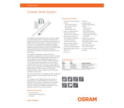 OSRAM Tunable White Systems