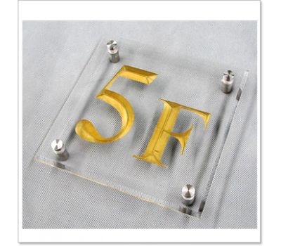 engraved acrylic sign