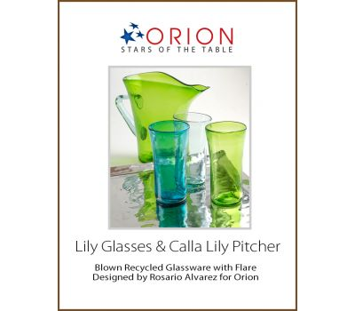 Lily Glasses & Calla Lily Pitcher