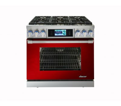 Discovery iQ™ 36-inch Dual-Fuel Range in DacorMatch™