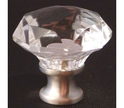 Faceted Crystal Knob-CR-4300