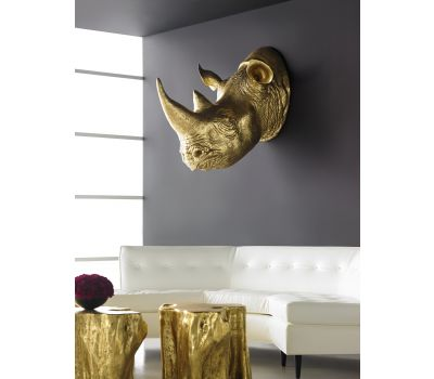 Rhinoceros Wall Sculpture