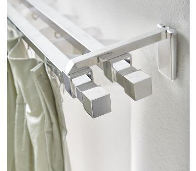 Polished Square Aluminum Zip Rod