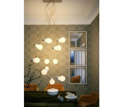 La Paz Ceiling Chandelier Gold 12