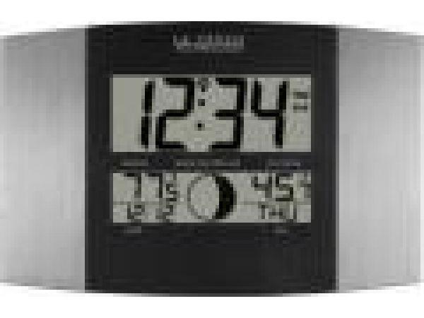 WS-8117U-IT-ALAtomic Digital Wall Clock with Moon & IN/OUT Temp