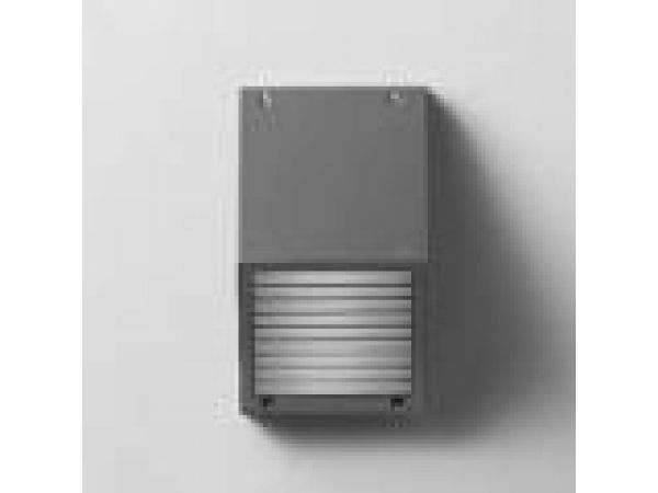 Surface wall with shielded light source