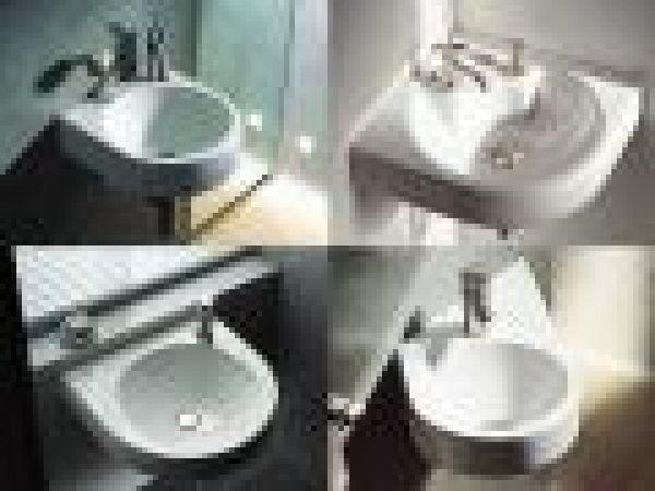 the Architec vanity washbasin with tap platform.