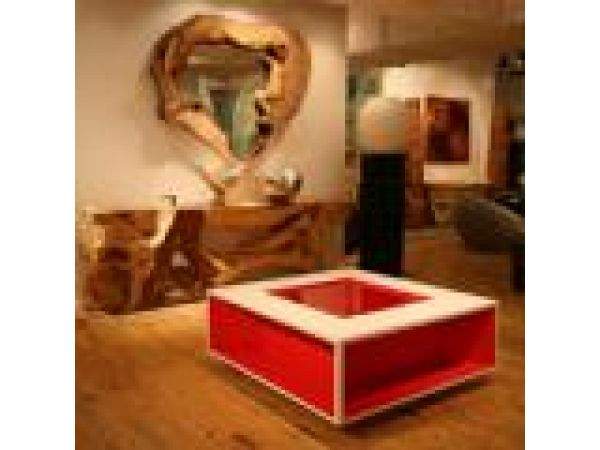 Red Wedge Table