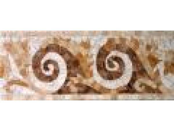 Stone Mosaics-5.5x13 Spiral Leaf 031