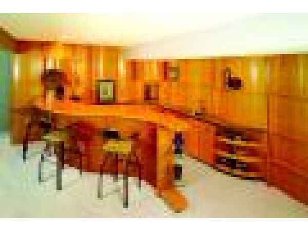 Curved Wet Bar