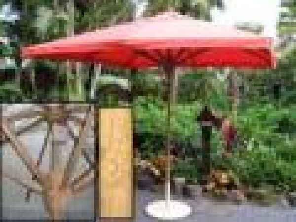 Carved Hub 8' Square Market Umbrella