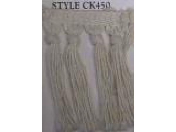 Style CK-450 Natural Small Knotted Cotton Fringe