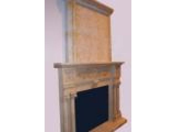 Marble Fireplace Mantels - E666 Yellow Marble