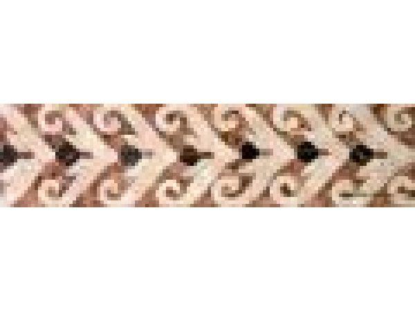 Stone Mosaics-3.5x13.5 V Spiral V