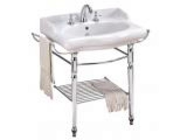 Magica Console Sink with Metal Grid Shelf