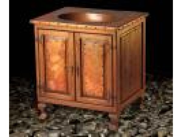 Santa Fe Wood And Copper Vanity