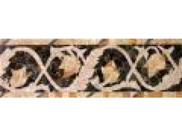Stone Mosaics-4.5x13 Twisting Ivy E