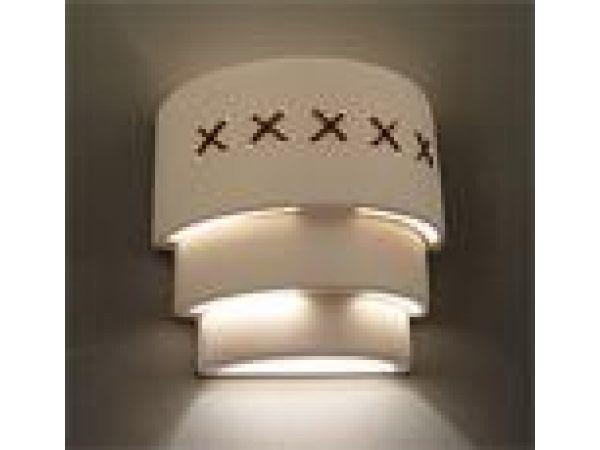 Leather Trim Wall Light