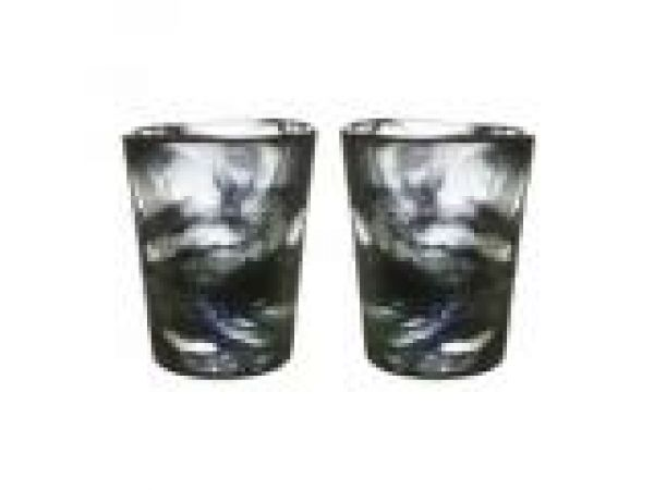 Mini Mine Glass Black Pair