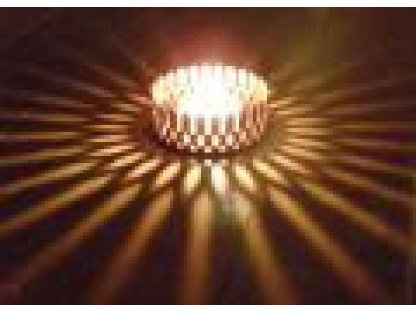 Sunburst illuminating Copper Coaster