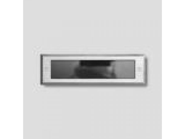 Recessed wall - stainless steel with micro-louver