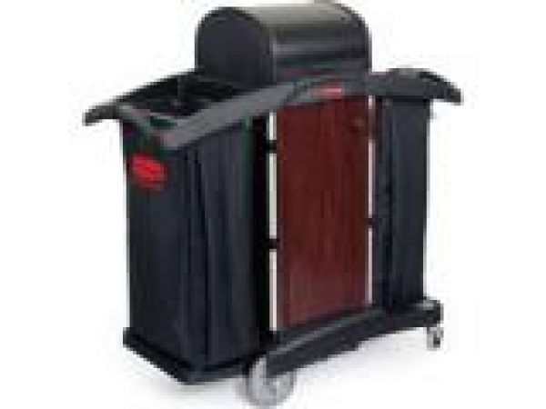 9T95 Deluxe Paneled Housekeeping Cart