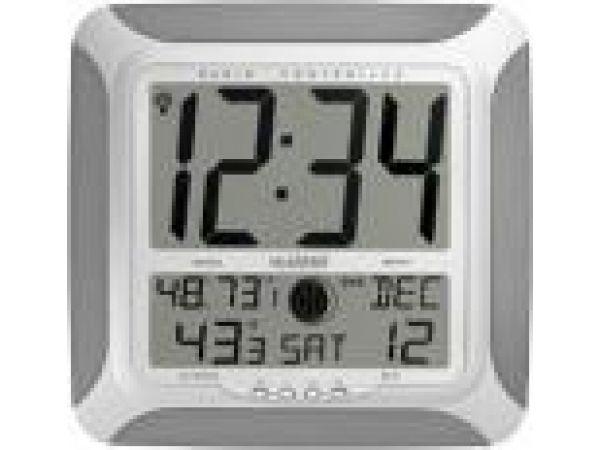 WS-8248U-ALAtomic Digital Wall Clock with Moon, Temp & Humidity