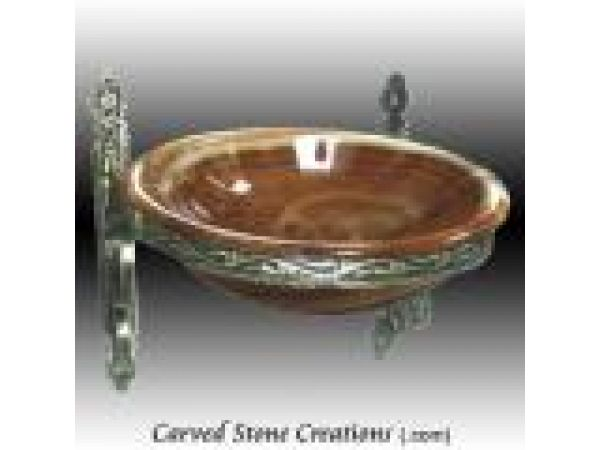 ABS-102, ''Decori'' Wrought Iron Wall Mount Vessel Sink Stand