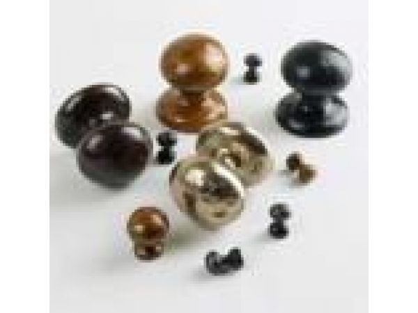Handcrafted knobs and hooks from the Accents Collection